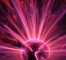 Plasma ball making electric discharges by Sami Sarkis