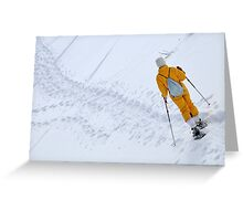 Woman snowshoeing Greeting Card