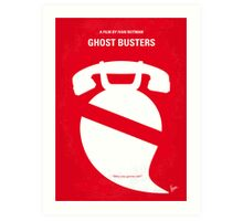 No104 My Ghost busters minimal movie poster Art Print