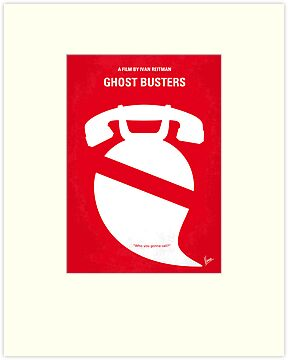 No104 My Ghost busters minimal movie poster by Chungkong