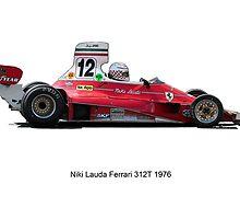 Ferrari 312 Nikki Lauda by jonbunston