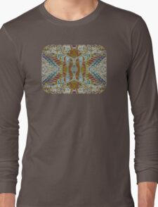 Moth in Earth Tones Long Sleeve T-Shirt
