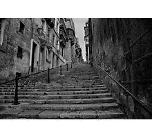 Valletta steps Photographic Print