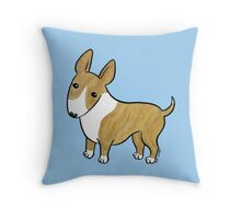 English Bull Terrier - Brindle and White Throw Pillow