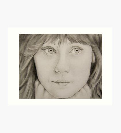 Zoey Deschanel Art Print