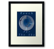 Reach For The Sky Design Framed Print