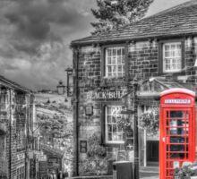 Haworth - Red Telephone Box Sticker