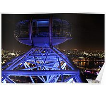 London Eye High in the Night Sky Poster
