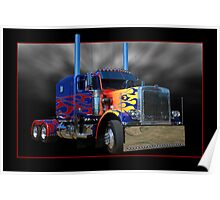 Optimus Prime Peterbilt Poster