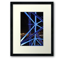 Blue Bicycle Wheel, London Eye Framed Print