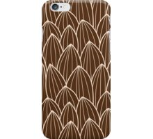 Seamless pattern with hand drawn cactus grid iPhone Case/Skin