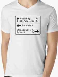 Strangeways, Here We Come (via Miller Street) Mens V-Neck T-Shirt