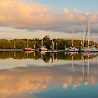 Marina Sunset Panorama Queensland Australia by PhotoJoJo