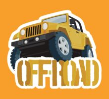 Yellow 4X4 off-road Jeep by Robin Lund