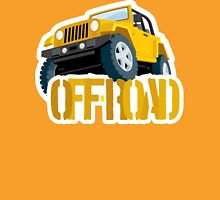 Yellow 4X4 off-road Jeep Unisex T-Shirt