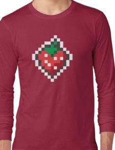 strawberry pixels Long Sleeve T-Shirt