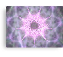 Pink and White Zebra Star Canvas Print