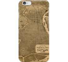 Panoramic Maps Birds eye view of Philadelphia and vicinity showing location of the Philadelphia  Reading Railroad iPhone Case/Skin