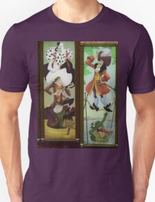 Stretching Portraits Haunted Mansion Villains Haunted House T-Shirt