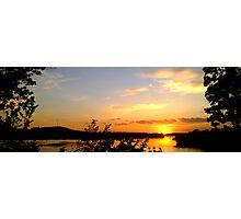 Panoramic Sunset at Radtke Park Photographic Print