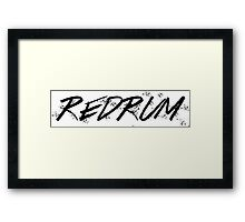 REDRUM / MURDER Framed Print