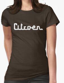 Vintage Citroën script emblem Womens Fitted T-Shirt