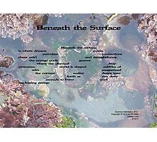 Beneath the Surface Photographic Print