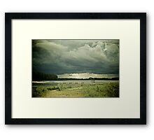 Stormy day Framed Print