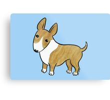 English Bull Terrier - Brindle and White Metal Print