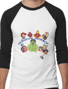 cheeked heroes 2 Men's Baseball ¾ T-Shirt