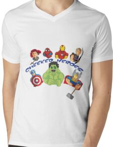 cheeked heroes 2 Mens V-Neck T-Shirt