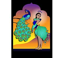 Twisted - Wild Tales: Mohini and the Peacock Photographic Print