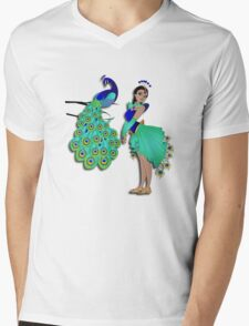 Twisted - Wild Tales: Mohini and the Peacock Mens V-Neck T-Shirt