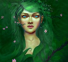 Green Nature Fairy by jensketch