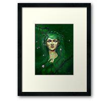 Green Nature Fairy Framed Print