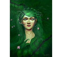 Green Nature Fairy Photographic Print
