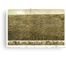 Panoramic Maps Adrian Michigan 1866 Canvas Print