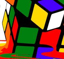 Melted Rubik's Rubix Cube Puzzle T Shirt Sticker
