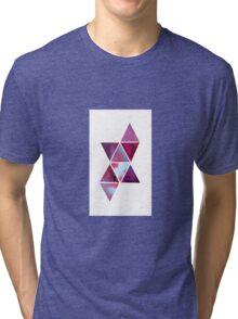 Geometric watercolour design Tri-blend T-Shirt