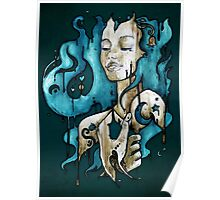 Ink on Wood Poster