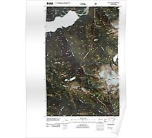 USGS Topo Map Washington State WA Bacon Peak 20110425 TM Poster