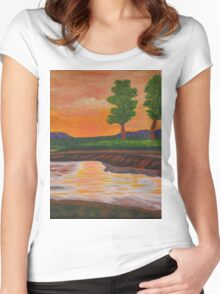 011 Landscape Women's Fitted Scoop T-Shirt