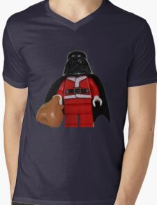 Santa Darth Vader Mens V-Neck T-Shirt