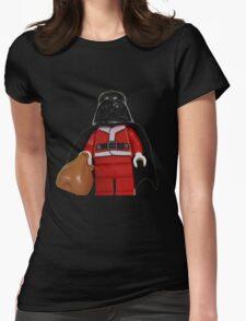 Santa Darth Vader Womens Fitted T-Shirt