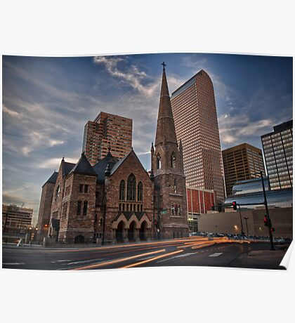 Trinity Methodist surrounded by Denver Poster