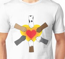 Paws and Heart Unisex T-Shirt