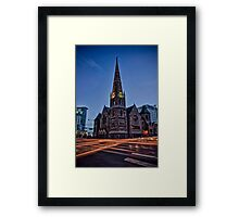 A Light on the Corner Framed Print