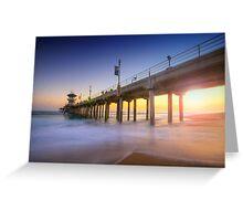 Huntington Beach Pier Sunset Greeting Card
