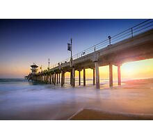 Huntington Beach Pier Sunset Photographic Print