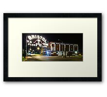 The Landmark Bristol Sign Framed Print